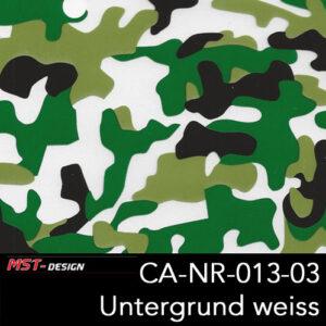 MST-Design, Wassertransferdruck, Camouflage, Folie CA-NR-013-03, Untergrund weiß