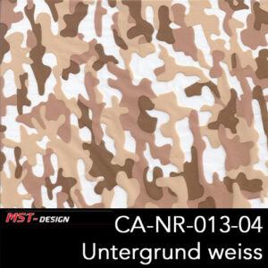 MST-Design, Wassertransferdruck, Camouflage, Folie CA-NR-013-04, Untergrund weiß