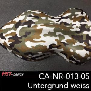 MST-Design, Wassertransferdruck, Camouflage, Folie CA-NR-013-05, Untergrund weiß