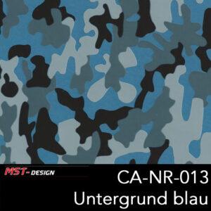 MST-Design, Wassertransferdruck, Camouflage, Folie CA-NR-013, Untergrund blau