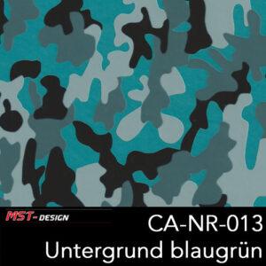 MST-Design, Wassertransferdruck, Camouflage, Folie CA-NR-013, Untergrund blaugrün