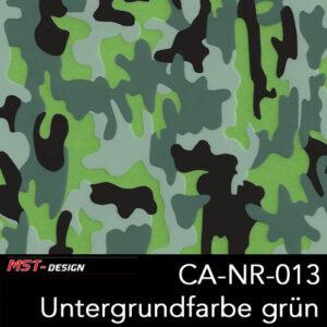 MST-Design, Wassertransferdruck, Camouflage, Folie CA-NR-013, Untergrund grün