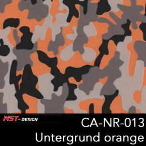 MST-Design, Wassertransferdruck, Camouflage, Folie CA-NR-013, Untergrund orange