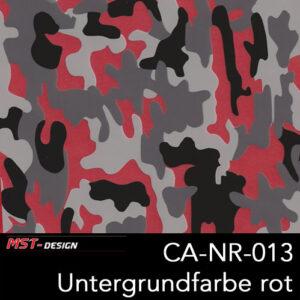 MST-Design, Wassertransferdruck, Camouflage, Folie CA-NR-013, Untergrund rot