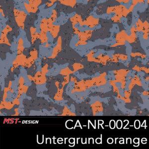 MST-Design, Wassertransferdruck, Army Style, Folie CA-NR-002-04, Untergrund orange