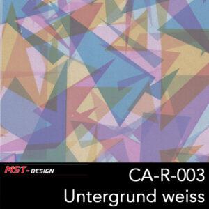 MST-Design, Wassertransferdruck, Buntes Format, Folie CA-R-003, Untergrund weiß