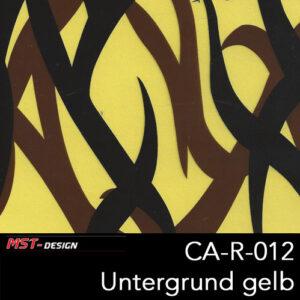MST-Design, Wassertransferdruck, Camouflage, Folie CA-R-012, Untergrund gelb
