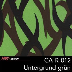 MST-Design, Wassertransferdruck, Camouflage, Folie CA-R-012, Untergrund grün