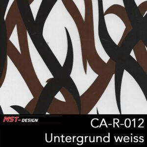 MST-Design, Wassertransferdruck, Camouflage, Folie CA-R-012, Untergrund weiß