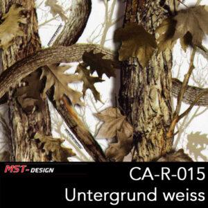 MST-Design, Wassertransferdruck, Camouflage Bäume, Folie CA-R-015, Untergrund weiß