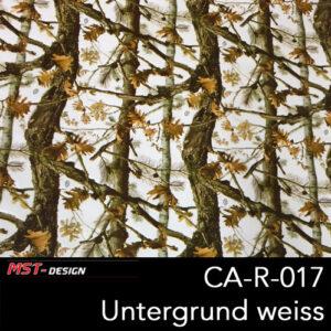 MST-Design, Wassertransferdruck, Camouflage Bäume, Folie CA-R-017, Untergrund weiß