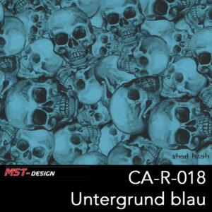 MST-Design, Wassertransferdruck, Folie CA-R-018, Untergrund blau