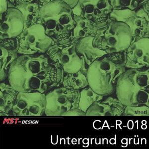 MST-Design, Wassertransferdruck, Folie CA-R-018, Untergrund grün