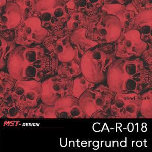 MST-Design, Wassertransferdruck, Folie CA-R-018, Untergrund rot