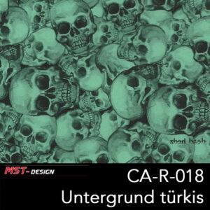 MST-Design, Wassertransferdruck, Folie CA-R-018, Untergrund türkis