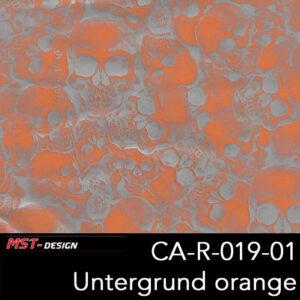MST-Design, Wassertransferdruck, Folie CA-R-019-01, Untergrund orange