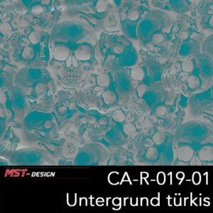 MST-Design, Wassertransferdruck, Folie CA-R-019-01, Untergrund türkis