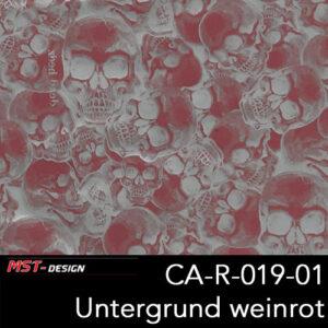 MST-Design, Wassertransferdruck, Folie CA-R-019-01, Untergrund weinrot