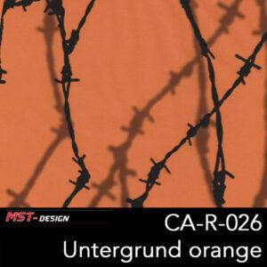 MST-Design, Wassertransferdruck, Stacheldraht, Folie CA-R-026, Untergrund orange