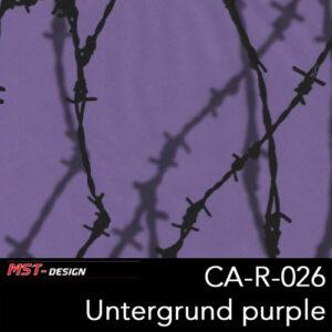 MST-Design, Wassertransferdruck, Stacheldraht, Folie CA-R-026, Untergrund purple