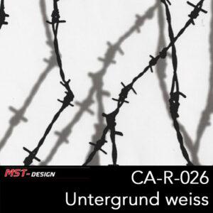 MST-Design, Wassertransferdruck, Stacheldraht, Folie CA-R-026, Untergrund weiß