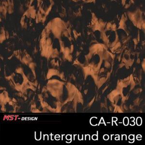 MST-Design, Wassertransferdruck, Folie CA-R-030, Untergrund orange