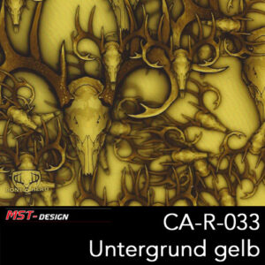 MST-Design, Wassertransferdruck, Tier Camouflage, Folie CA-R-033, Untergrund gelb