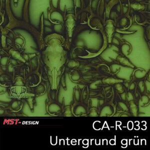 MST-Design, Wassertransferdruck, Tier Camouflage, Folie CA-R-033, Untergrund grün