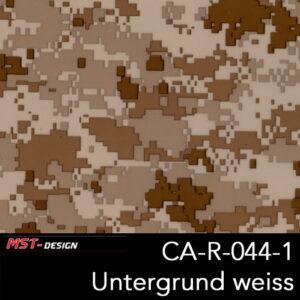 MST-Design, Wassertransferdruck, Camouflage, Folie CA-R-044-1, Untergrund weiß
