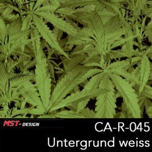 MST-Design, Wassertransferdruck, Camouflage, Cannabis, Folie CA-R-045, Untergrund weiß