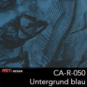 MST-Design, Wassertransferdruck, Tierknochen, Folie CA-NR-050, Untergrund blau