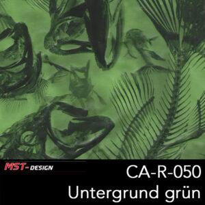 MST-Design, Wassertransferdruck, Tierknochen, Folie CA-NR-050, Untergrund grün