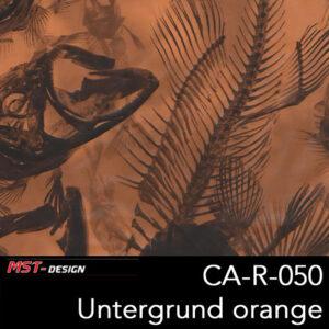 MST-Design, Wassertransferdruck, Tierknochen, Folie CA-NR-050, Untergrund orange