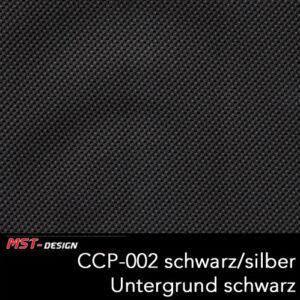MST-Design, Wassertransferdruck, Folie CCP-002 schwarz/silber, Untergrund schwarz
