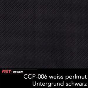 MST-Design, Wassertransferdruck, Folie CCP-006 weiß Perlmutt, Untergrund schwarz