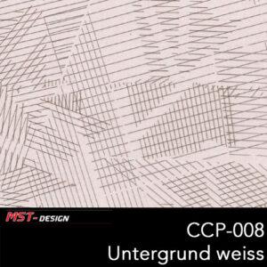 MST-Design, Wassertransferdruck, Folie CCP-008, Untergrund weiß