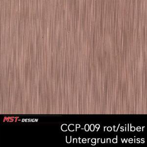MST-Design, Wassertransferdruck, Folie CCP-009 rot/silber, Untergrund weiß