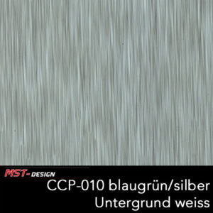 MST-Design, Wassertransferdruck, Folie CCP-010 blaugrün/silber, Untergrund weiß