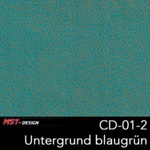MST-Design, Wassertransferdruck, Folie CD-01-2, Untergrund blaugrün