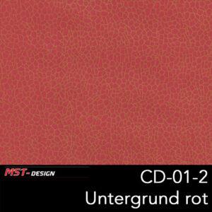 MST-Design, Wassertransferdruck, Folie CD-01-2, Untergrund rot