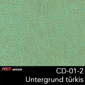 MST-Design, Wassertransferdruck, Folie CD-01-2, Untergrund türkis