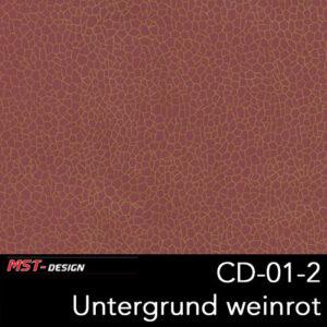 MST-Design, Wassertransferdruck, Folie CD-01-2, Untergrund weinrot neu