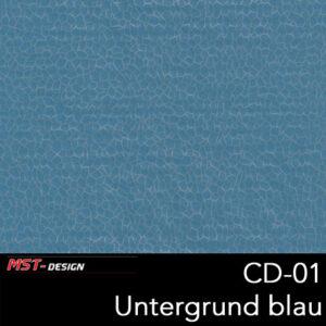 MST-Design, Wassertransferdruck, Folie CD-01, Untergrund blau