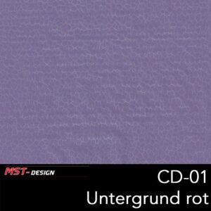 MST-Design, Wassertransferdruck, Folie CD-01, Untergrund purple
