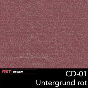 MST-Design, Wassertransferdruck, Folie CD-01, Untergrund rot