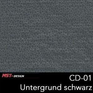 MST-Design, Wassertransferdruck, Folie CD-01, Untergrund schwarz