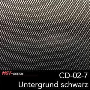 MST-Design, Wassertransferdruck, Folie CD-02-7, Untergrund schwarz