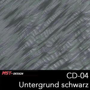 MST-Design, Wassertransferdruck, Folie CD-04, Untergrund schwarz