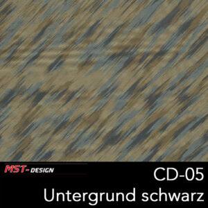 MST-Design, Wassertransferdruck, Folie CD-05, Untergrund schwarz