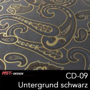 MST-Design, Wassertransferdruck, Folie CD-09, Untergrund schwarz